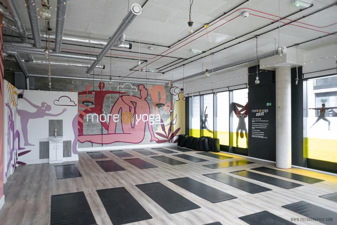 yoga characters mural 09