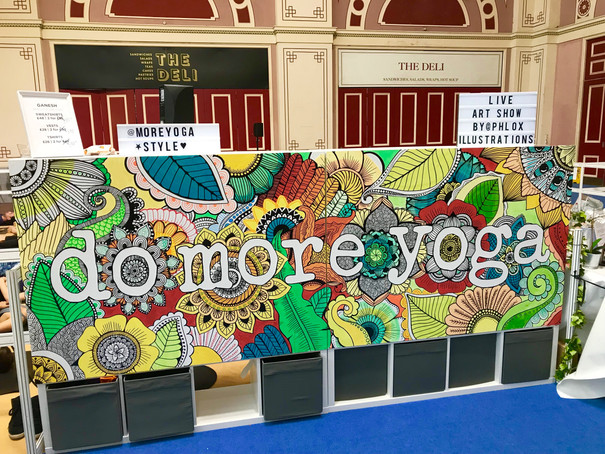 hand painted do more yoga sign