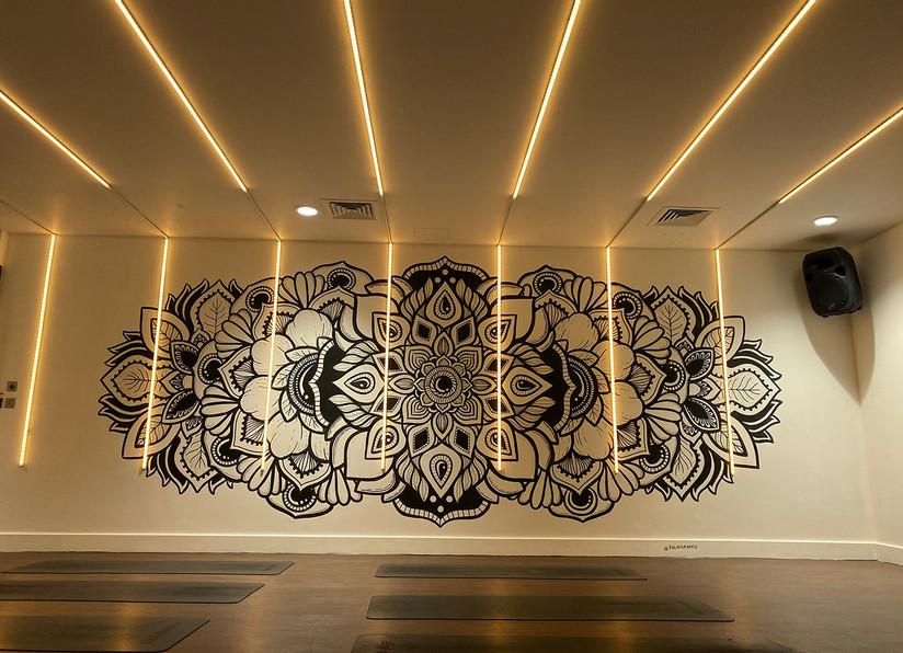 illuminated LED mandala mural painting phloxgraphix 10