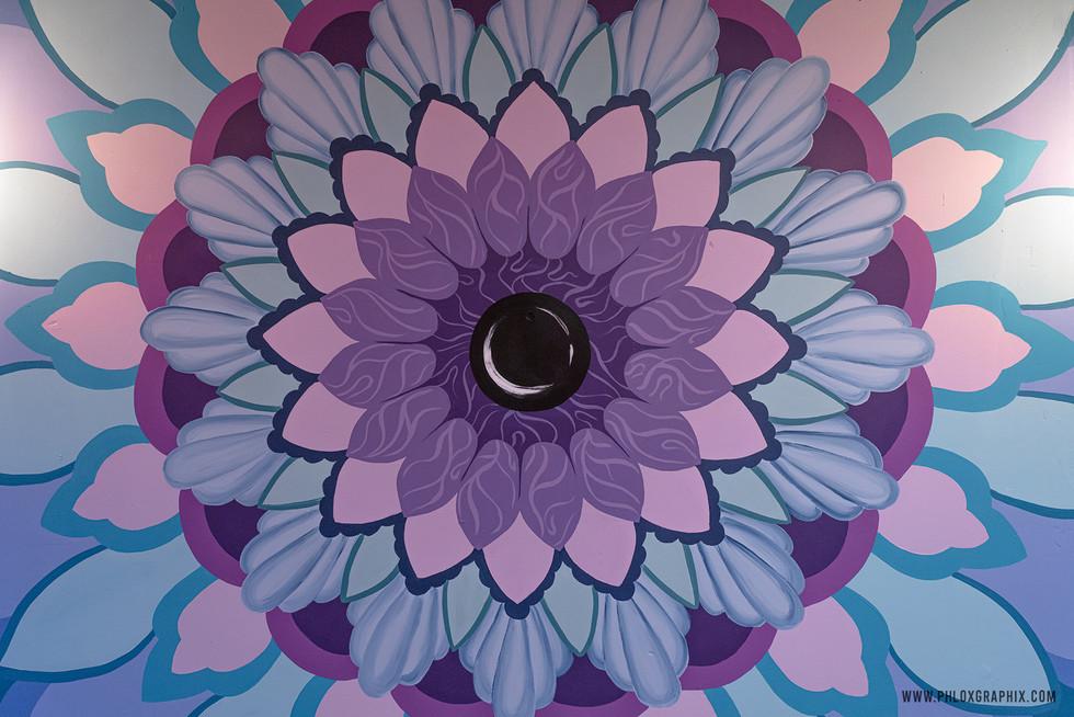 Third eye mandala mural 08 close up