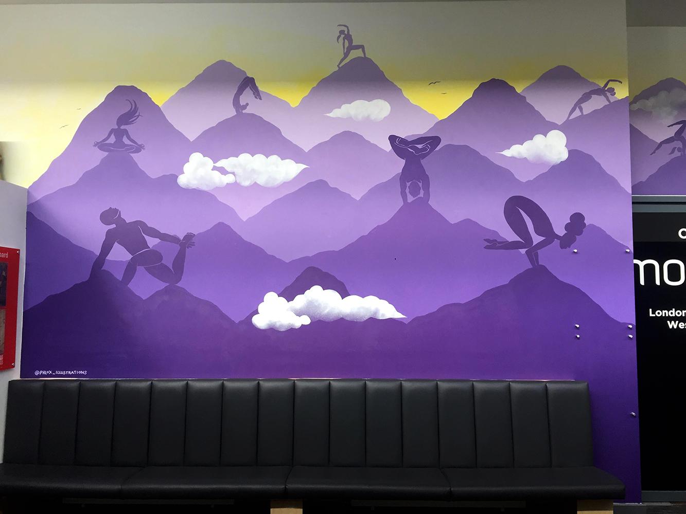 'Mountain Yogis' Mural