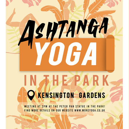 Flyer with yoga pattern design