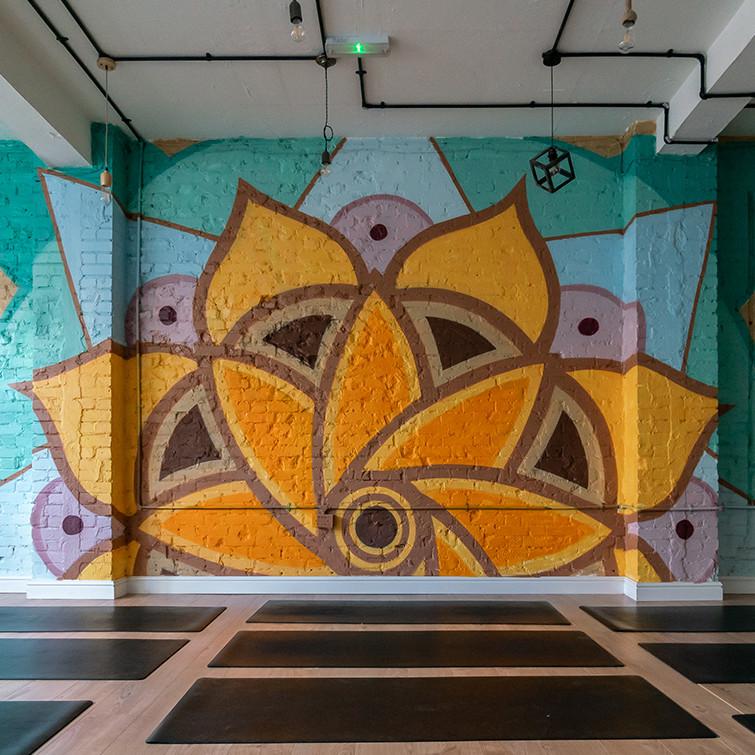 mandala mural phlox graphix