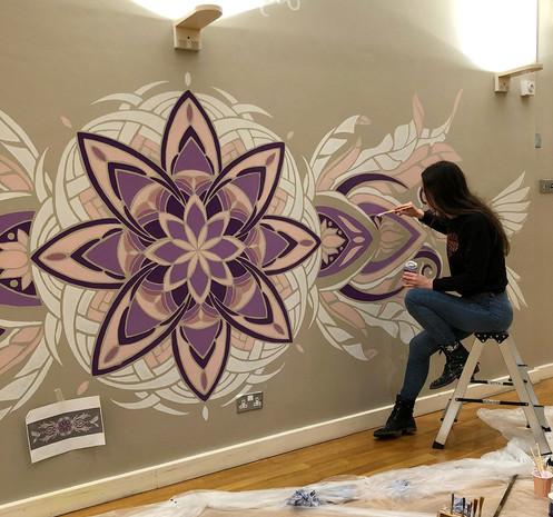 Rose Window Mural