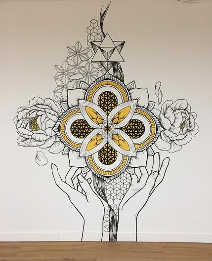 sacred geometry style mural phlox graphix 5