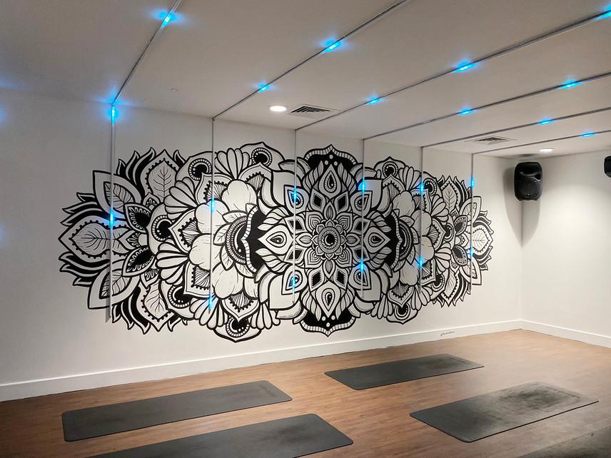 illuminated LED mandala mural painting phloxgraphix 1