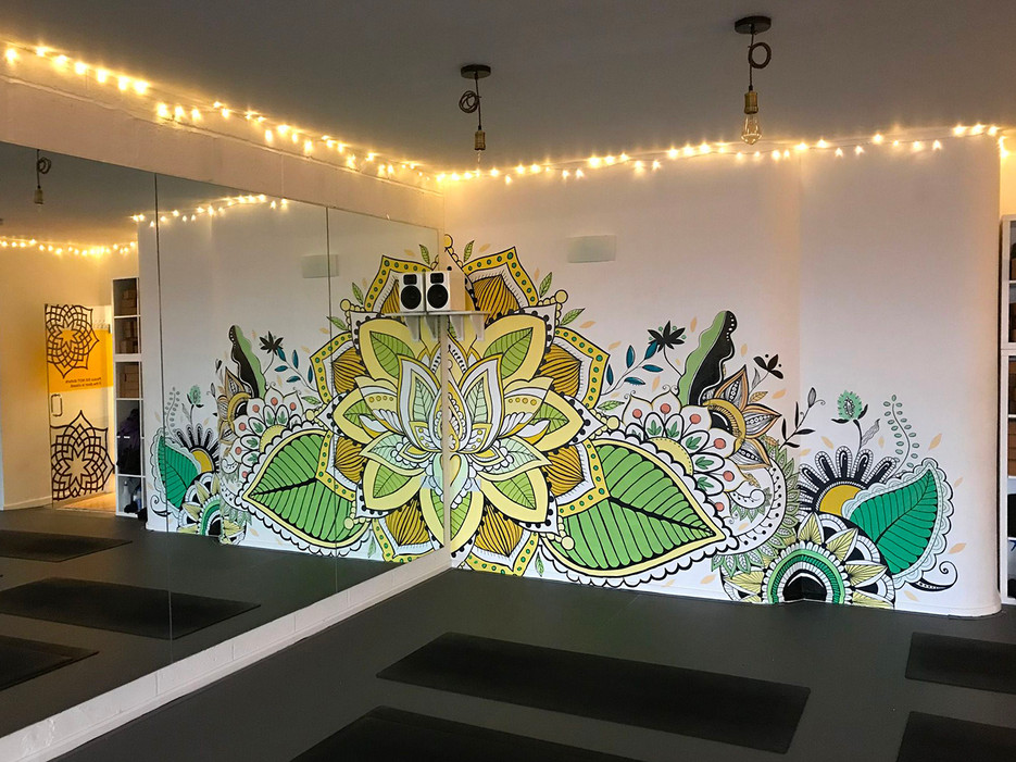 Reflections Mandala Mural Painting 2