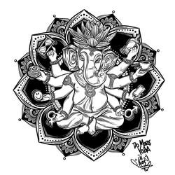 Ganesh Print desig for Clothing