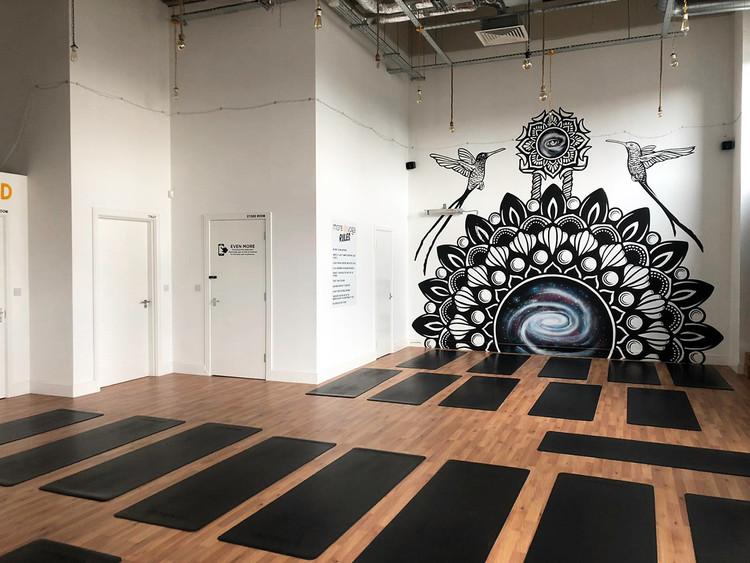 Mandala galaxy mural painting psy gate 3