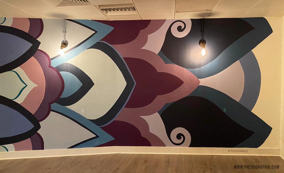 Third eye mandala mural 01