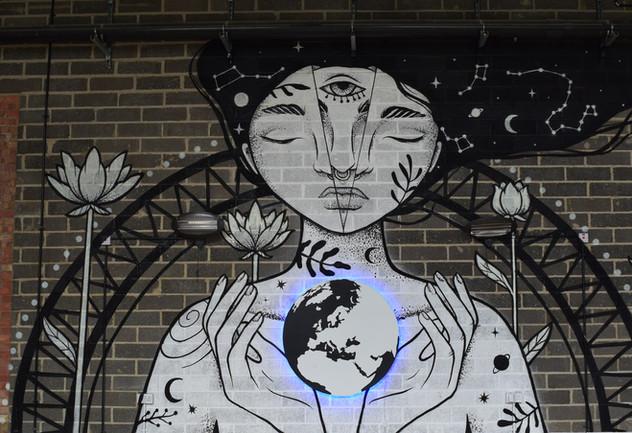 Galaxy Girl Mural