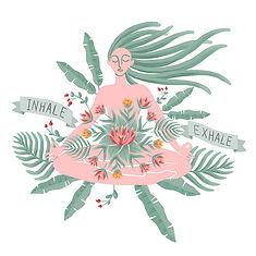 Inhale exhale digital illustrations