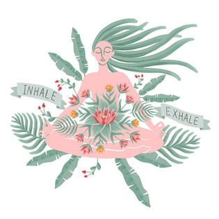 Inhale - Exhale Digital Illustration