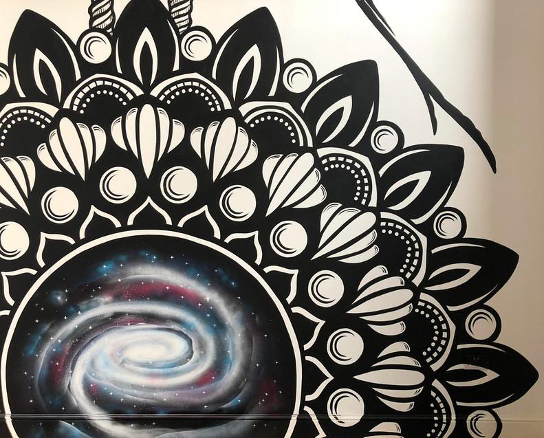 Mandala galaxy mural painting psy gate 6