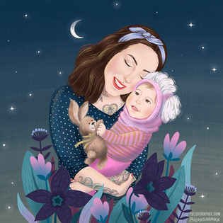 Mother & Daughter - Commissioned illustration