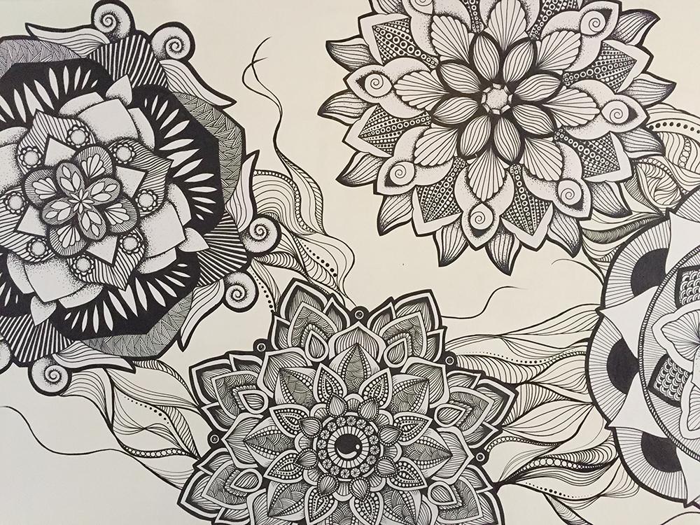 Hand drawn wallpaper artwork-Aldgate