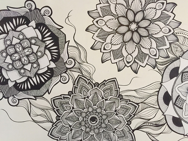 hand drawn mandala wallpaper 8