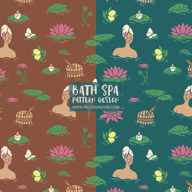 Package design - Bath Spa pattern