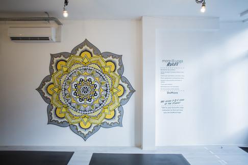 mandala artwork installed