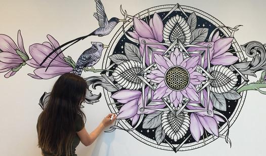 The Aviary Mural Artwork