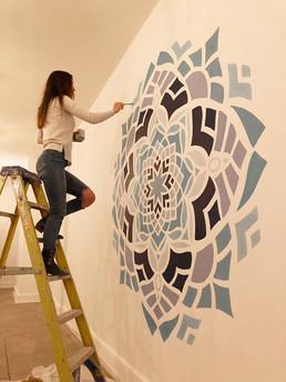 shattered mandala muralist
