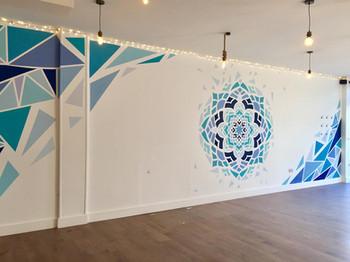shattered mandala mural