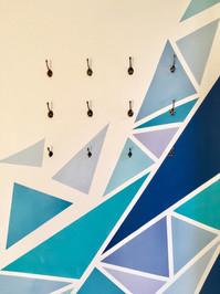shattered mandala mural abstract artwork details