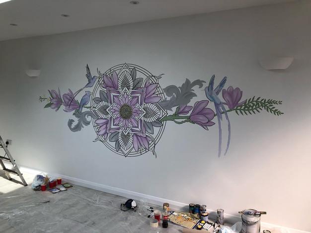 the aviary mural art sacred geometry39