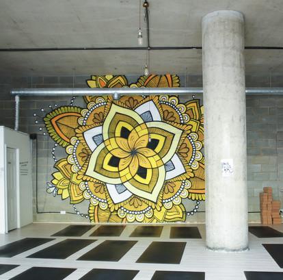 Mandala Mural in Lewisham