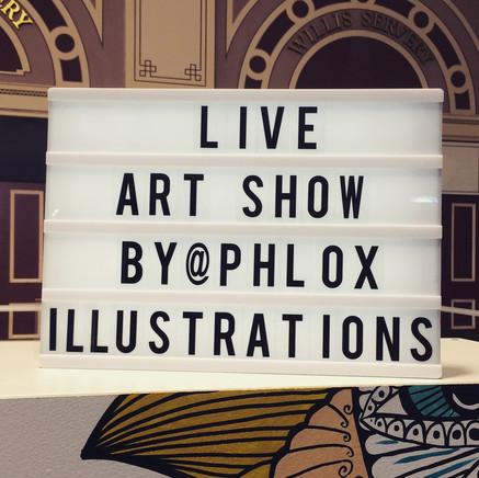 live art show by phlox