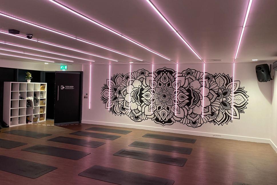 illuminated LED mandala mural painting phloxgraphix 8