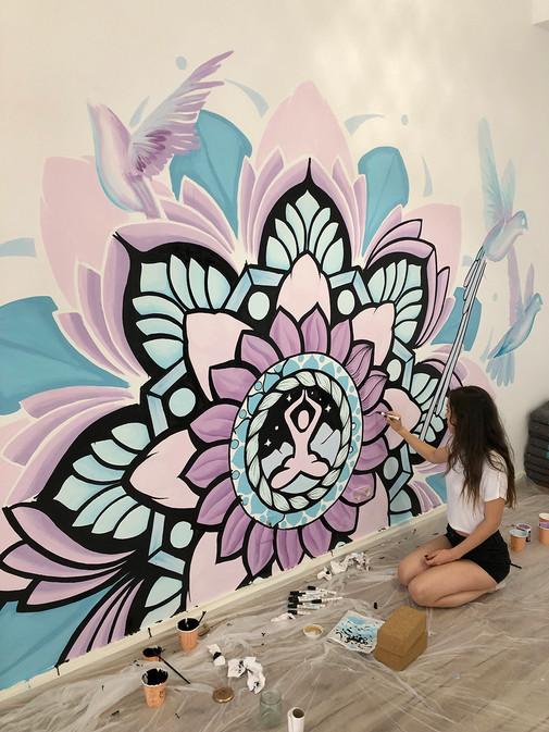 mandala mural madrid painting  7