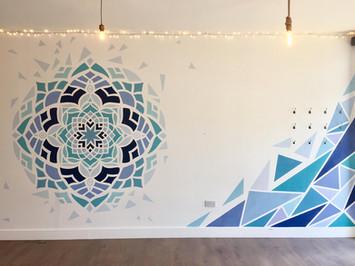shattered mandala mural artist