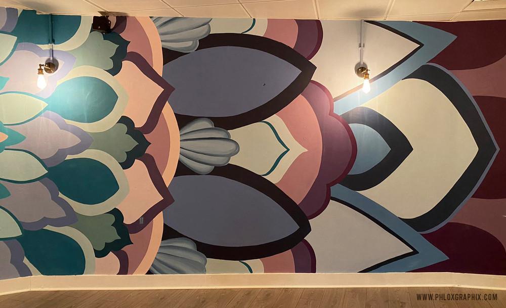 Third eye mandala mural 02