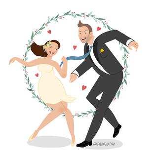 Wedding invitation card illustration