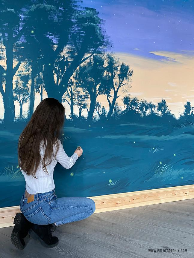 fantasy forest mural william shakespeare mid summer nights dream 6