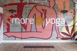 Yoga characters mural