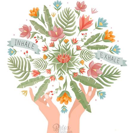 Healing hands - illustration in Procreate