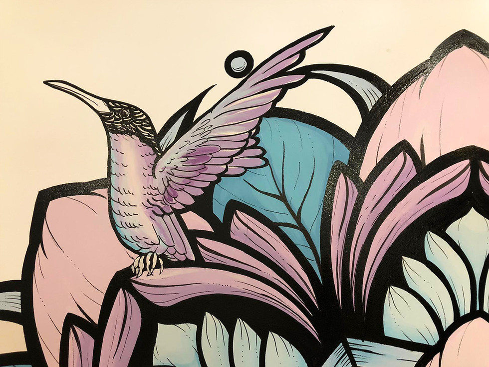 mandala mural madrid painting  5