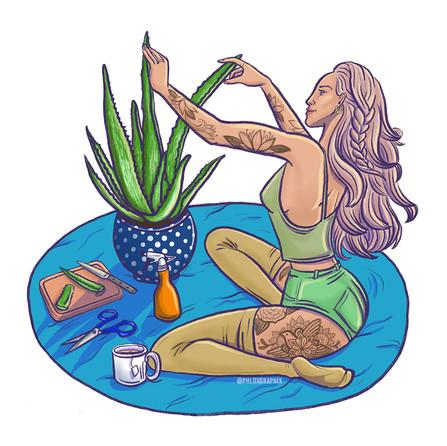 Vera plantlady - illustration in Procreate
