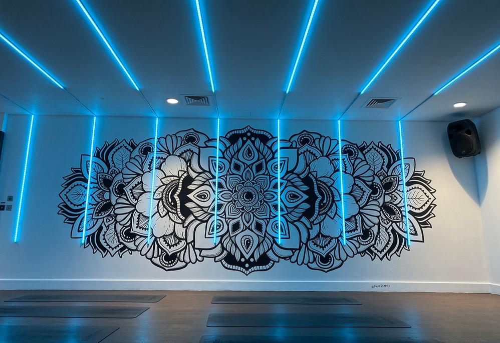 illuminated LED mandala mural painting phloxgraphix 4