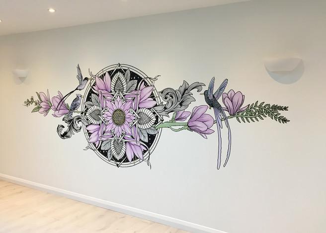 the aviary mural art sacred geometry2