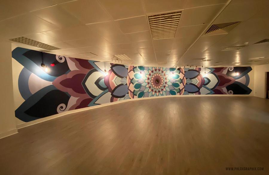 Third eye mandala mural 04
