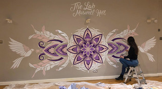 Rose Window style Mural painting