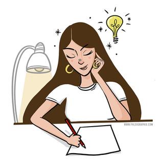 Study night - Illustration
