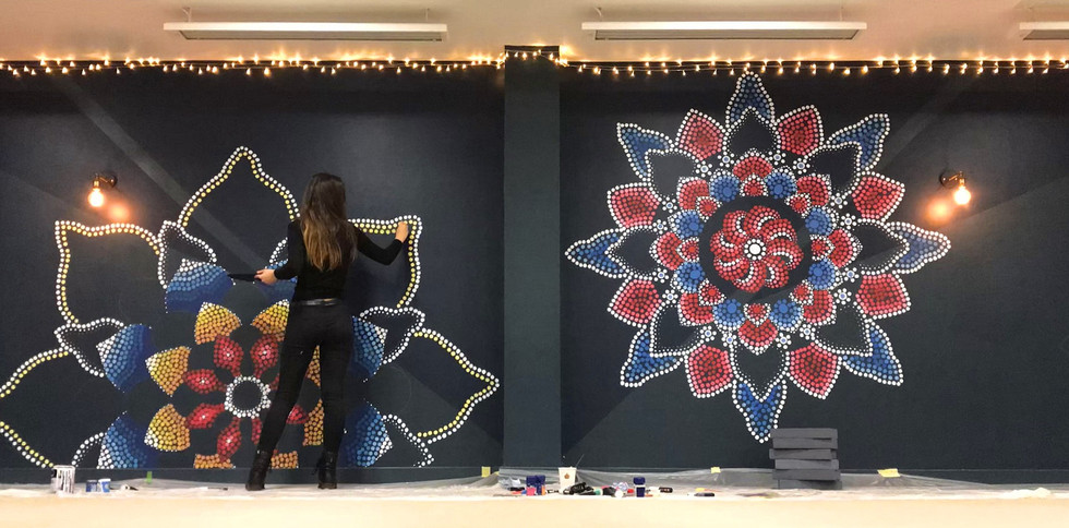 Mosaic Style Mural