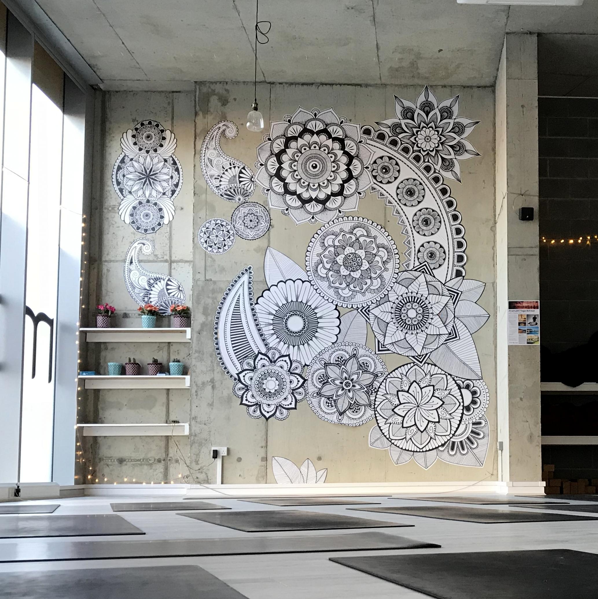 Hand drawn mandala wallpaper