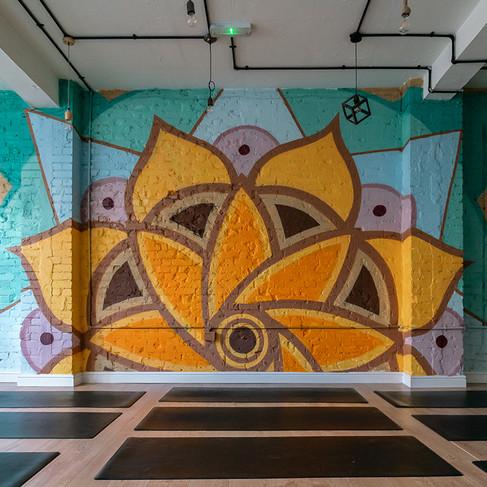 Giant Mandala Mural