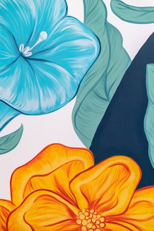 floral mural details