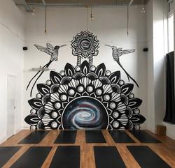 Galaxy Mandala Mural